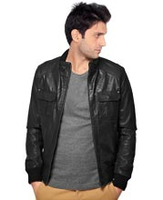 smooth-woolen-hem-detailing-leather-jacket