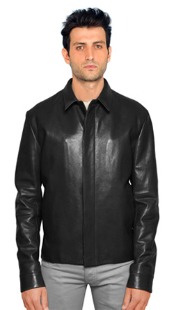 Colored Formal Looking Leather Jacket