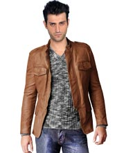 buttoned-cuffs-leather-jacket-for-men