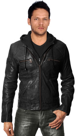 Rugged Classic Mens Leather Jacket