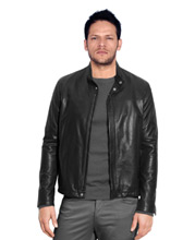Modern Corporate Elan Leather Jacket for Men