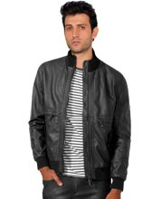 Chic Patterned Designer Leather Jacket for Men