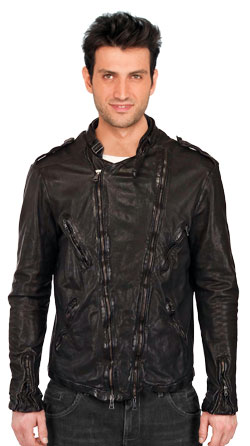 Smart Multiple Zippered Leather Jacket