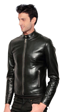 Slim and Sleek Leather Jacket for Men