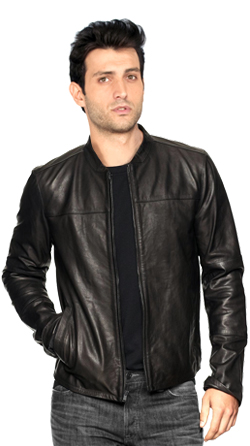 Poised Mens Leather Jacket
