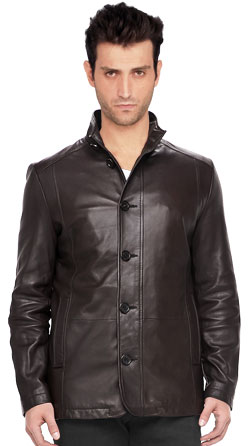 Smooth Finish Mens Leather Jacket