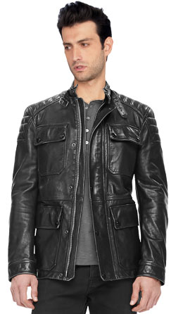 Mens Field Jacket with Throat Latch