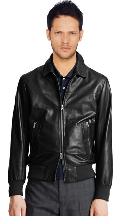 Short and smart leather jacket