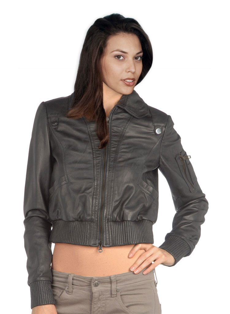 Maroon Leather Jacket Womens