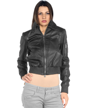 elastic-cuff-womens-leather-bombers