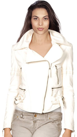 Starlet Womens Leather Bomber Jacket