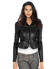 formal-mini-frilled-leather-jacket