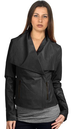 Funky smart leather jacket