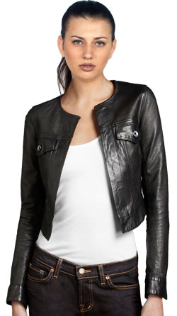 Lively Cropped Leather Jacket