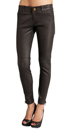 Spectacular Ankle Closing Leather Pant