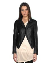 v-neckline-colloquial-leather-jacket