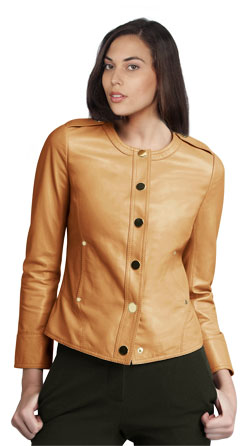 Sophisticated Moto Themed Leather Jacket