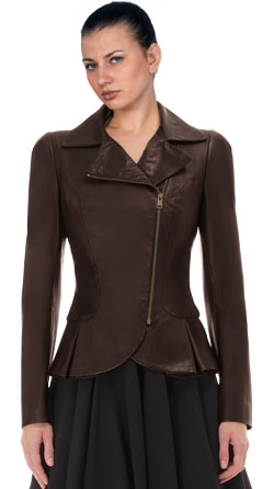 Duchess Peplum Leather Jacket