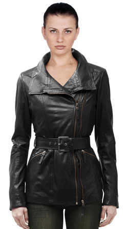 Slim Fit Modern Leather Jacket