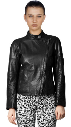 Simple and Elegant Leather Jacket for Women