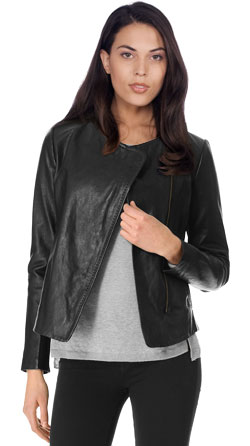Sleek Silhouette Fit Leather Jacket
