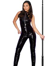Bewitching Halter-Style Leather Jumpsuit for Women