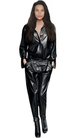 Sleek Leather Jumpsuit for Women