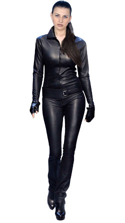 Femme Fatale Leather Jumpsuit for Women