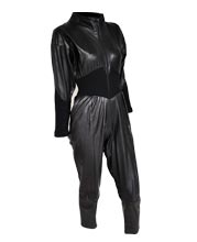 Loose and Classic Leather Jumpsuit