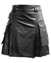 double-box-pleated-mens-leather-kilts