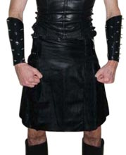 Vintage Style Leather Kilt for Men