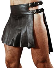 Gothic and Cool Leather Kilt for Men