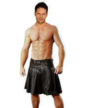Groovy Knee-Length Leather Kilt for Men