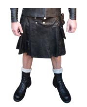 Masculine and Tough Leather Kilt for Men
