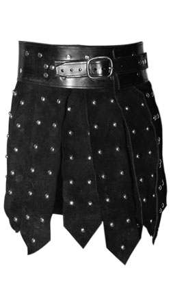 Strapped Leather Kilt for Men