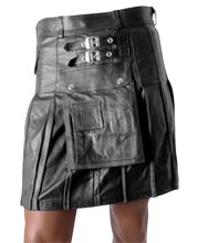 Buckled Scottish Style Leather Kilt