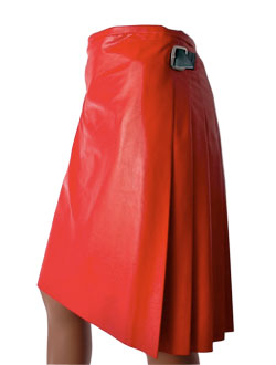 Voguish Multiple Pleated Leather Kilt