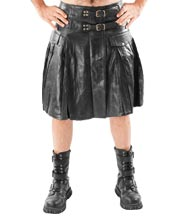 classic-pleated-style-leather-kilt