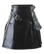 Gothic Punk Leather Kilt