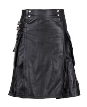classy-and-elegant-leather-kilt