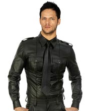 Sexy and Stunning Mens Leather Shirt