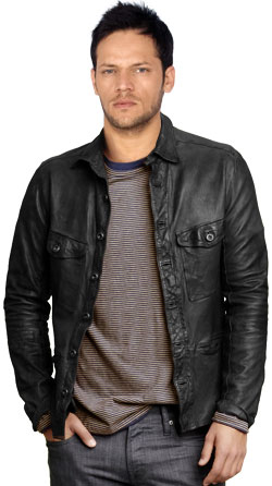 Leather Shirt with Modern Style and Trendy Effect