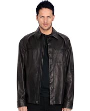 Business Elan Mens Leather Shirt