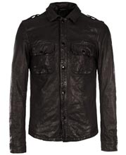 Cool Slim Fit Leather Shirt