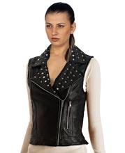 Comely-Studded-and-Classy-Women-Leather-Vests