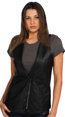 Body Fitting and Sumptuous Womens Leather Vest