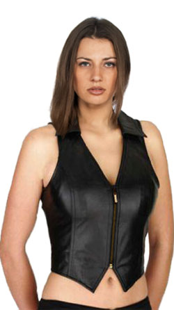 Sexy and Stylish Womens Leather Vest
