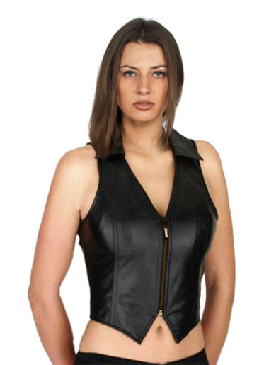Women'S Sexy Leather Vests 114