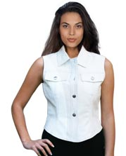 Wide-Collar-and-Front-Pocket-Womens-Leather-Vest