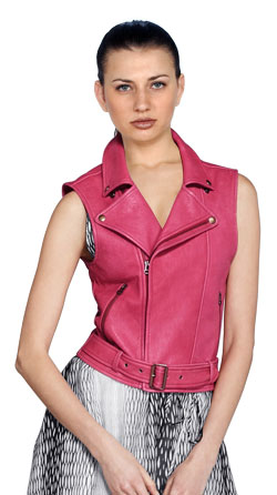 Cool Slim Fit Leather Vest